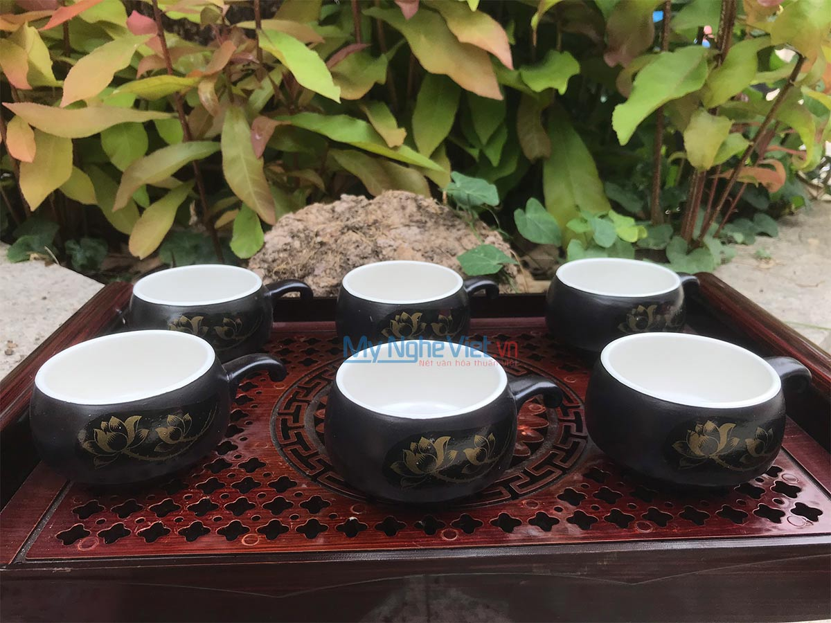 Combo 6 Ly cà phê lẻ màu trắng CF001-0CB