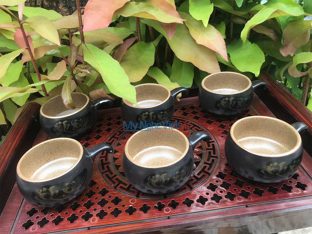 Combo 6 Ly cà phê lẻ màu nâu CF001-1CB