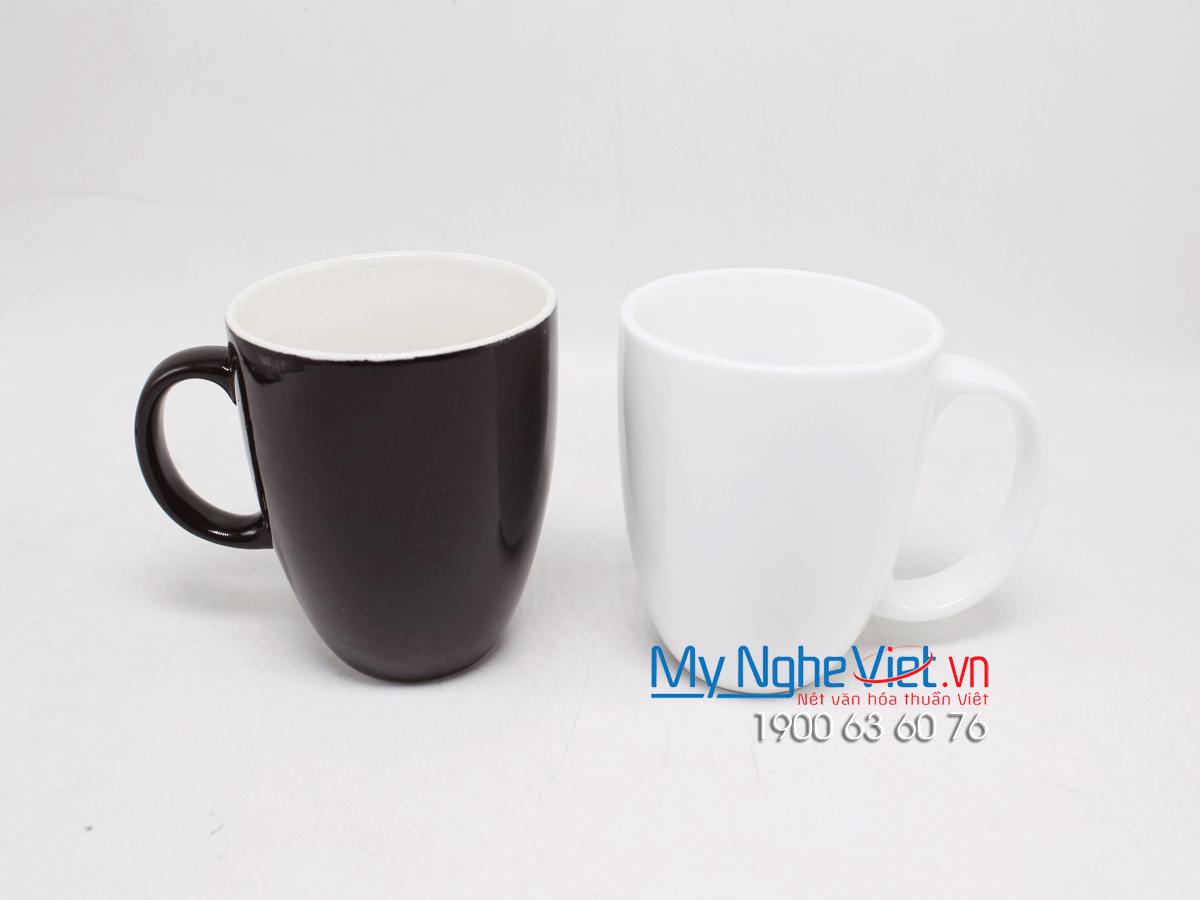 Combo ly latte nâu trắng - trơn MNV-LS008-2