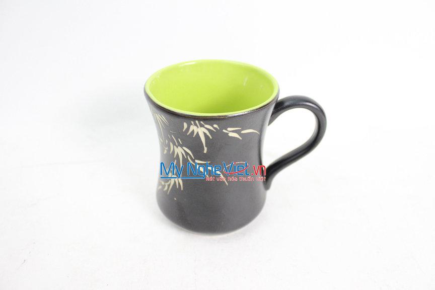 Ly eo màu xanh lá gốm Bát Tràng MNV-LS001/xlá