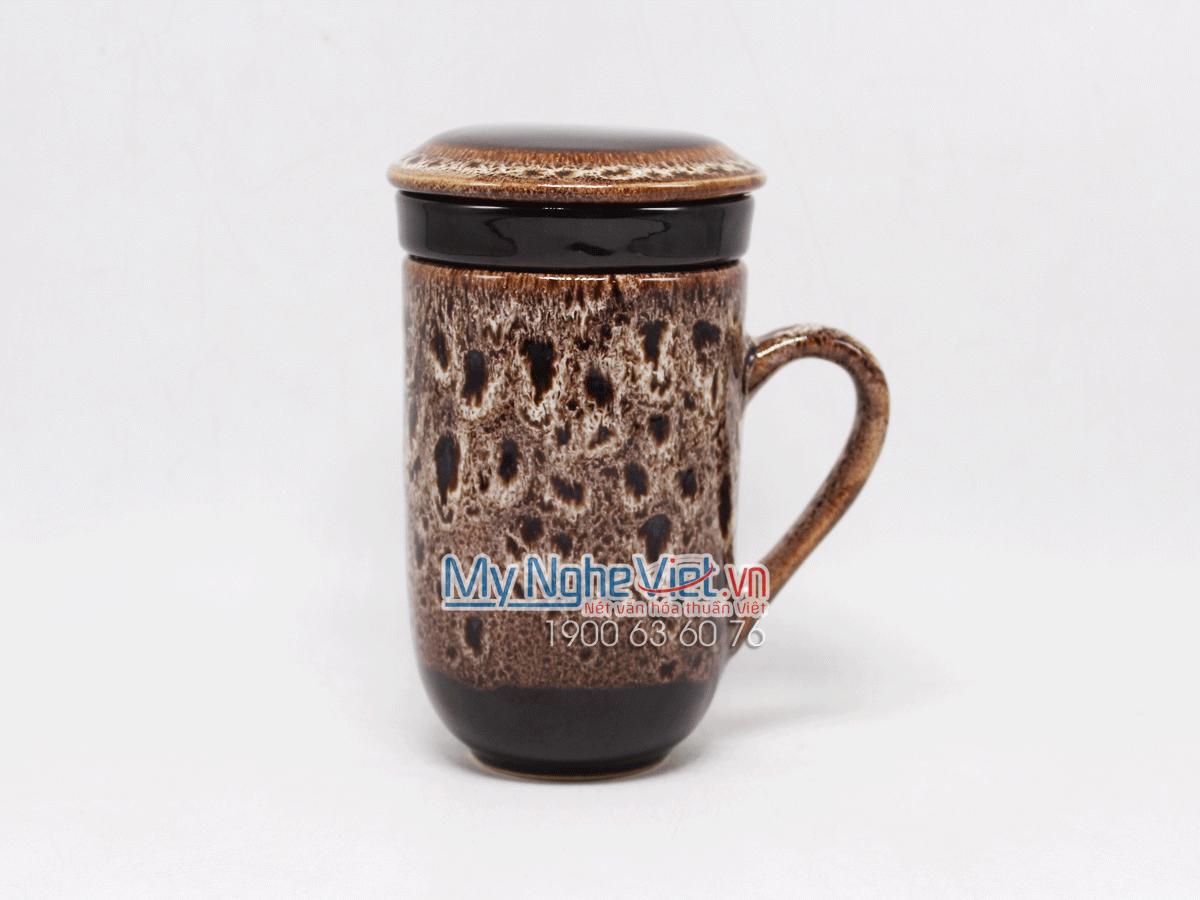 Ly lọc trà men Hỏa Biến đen trắng MNV-LTM001-1