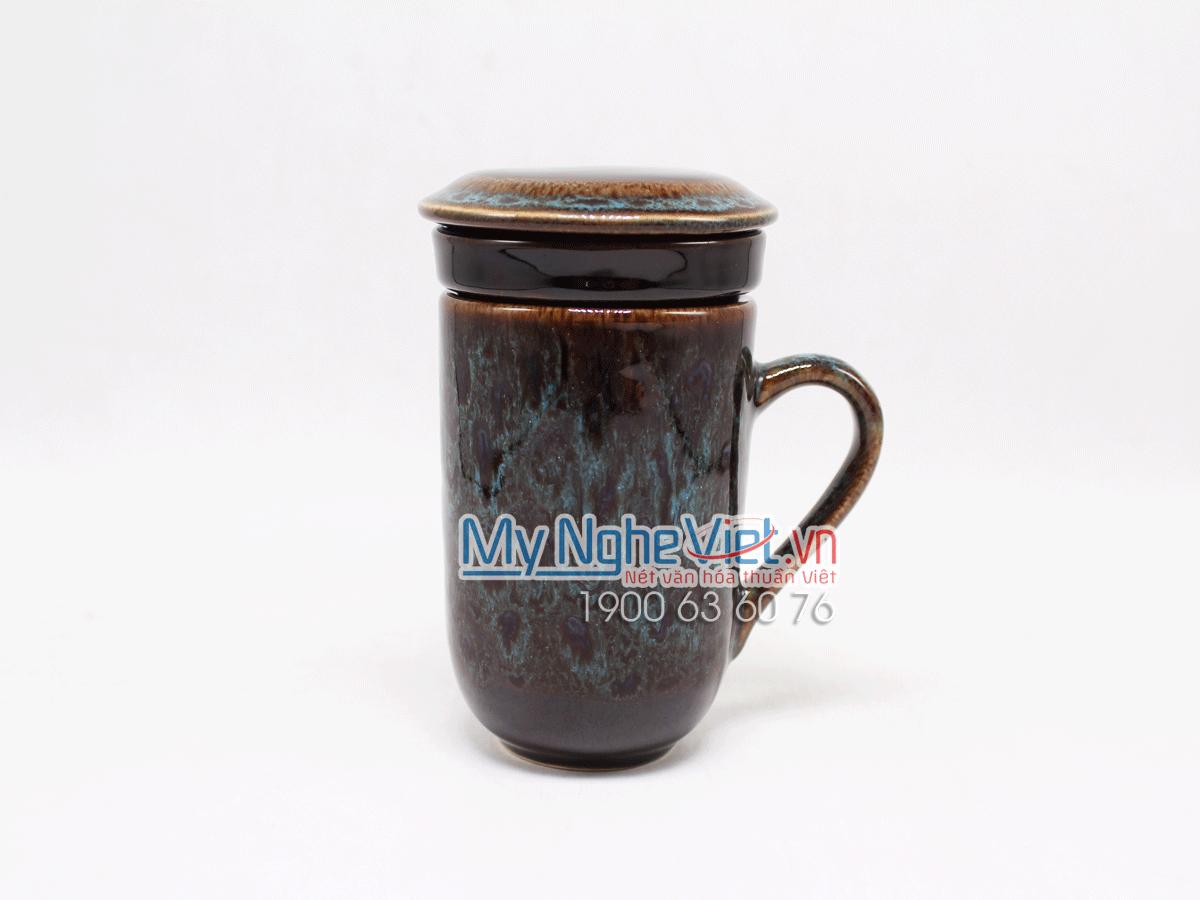 Ly lọc trà men Hỏa Biến xanh dương MNV-LTM001-5