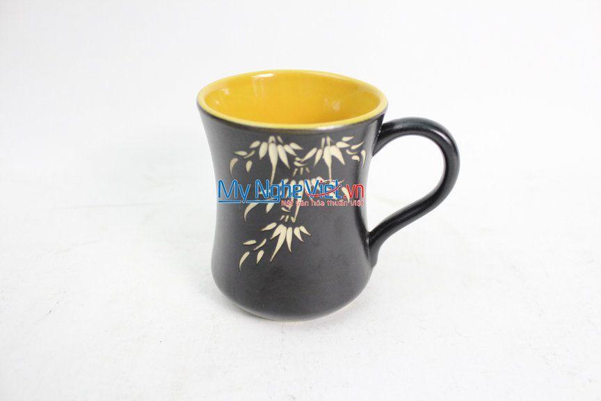 Ly eo màu vàng gốm Bát Tràng MNV-LS001/vàng