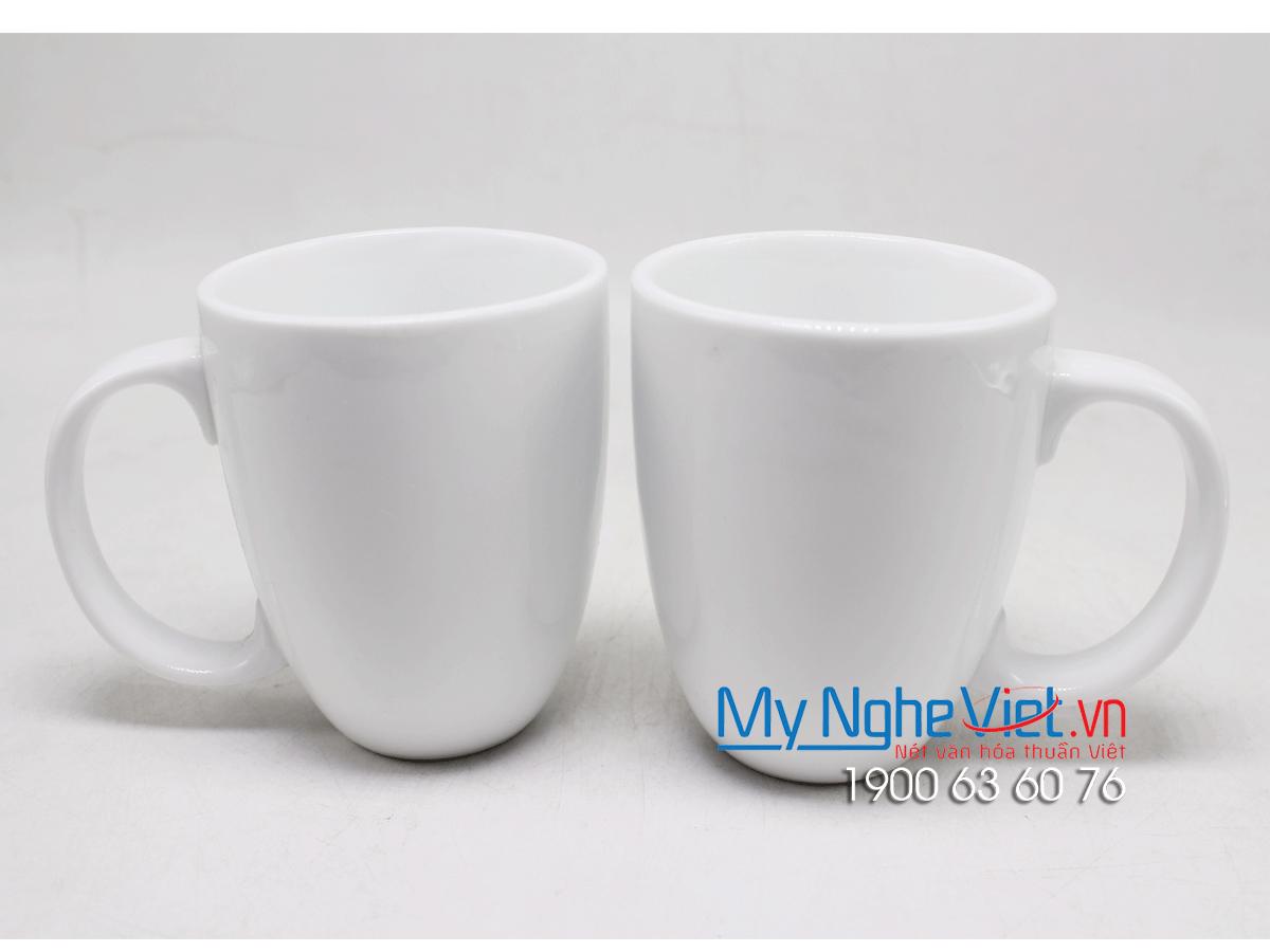 Combo ly latte trắng trơn MNV-LS008